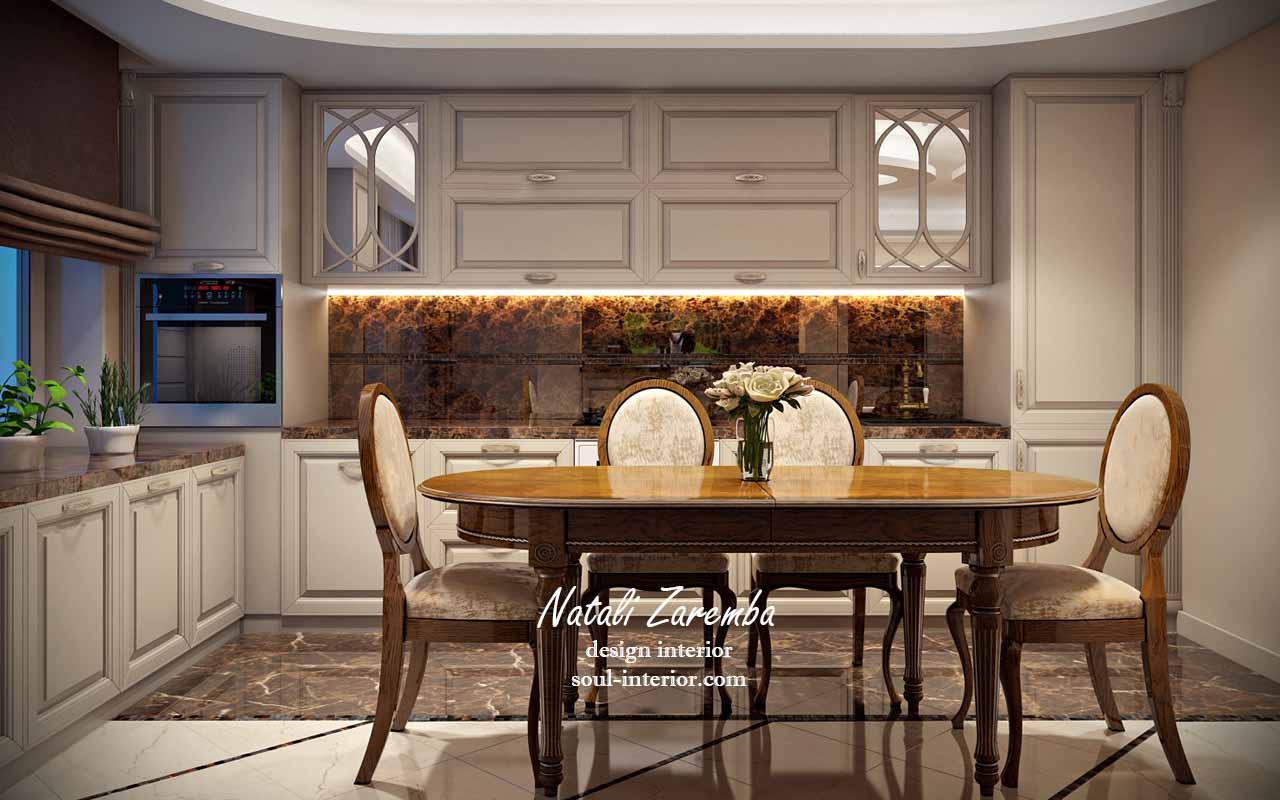 <strong>Дизайн кухни современный и классический.<span><b>view larger</b></span></strong><i>→</i>